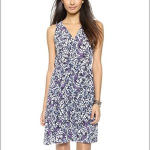 Rebecca Taylor Silk Blossom V Neck Dress